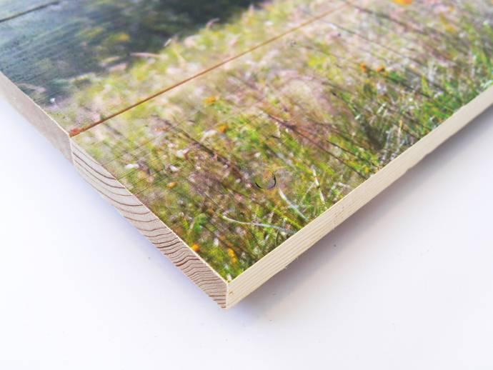 Vurenhout contrast met foto